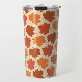 Happy Fall Y'all! Falling maple leaves Travel Mug
