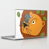 leon Laptop & iPad Skins featuring Mouse&Leon by Lara Savoia