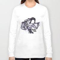 harley quinn Long Sleeve T-shirts featuring Harley Quinn by VivianLohArts