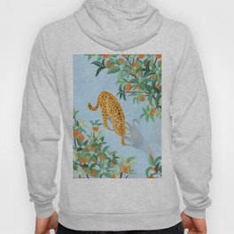 Leopard and Orange Trees Hoody