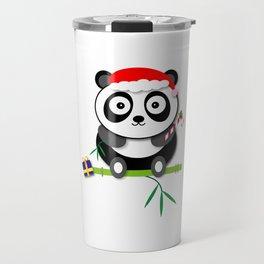 Holiday Panda Travel Mug