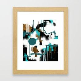 Deco Night Framed Art Print
