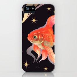 Goldfish Susane night sky iPhone Case