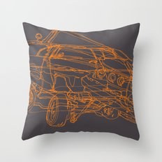 Car Clump Throw Pillow