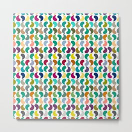 Seamless Colorful Geometric Shapes Pattern II Metal Print