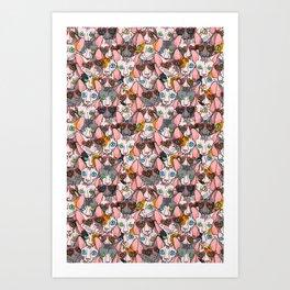 valentines day sphynx Art Print