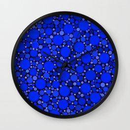 Vibrant Cobalt Blue Polka Dots Wall Clock