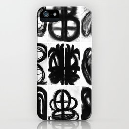 Abstract Charcoal Drawings iPhone Case