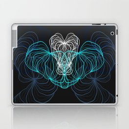 Gray, blue and white / digital drawing Laptop & iPad Skin