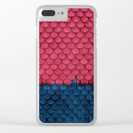 SHELTER / Raspberry, Ultramarine Clear iPhone Case