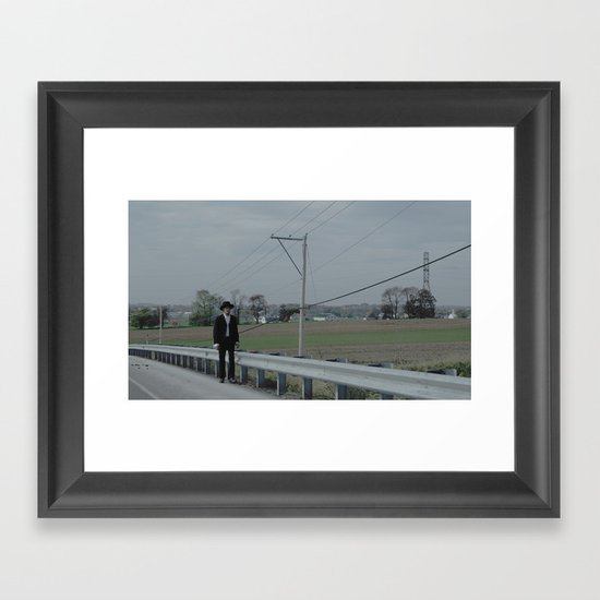 Angry Amish Framed Art Print