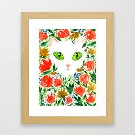 Cat Flor / Art Print / Jungle Cat Framed Art Print