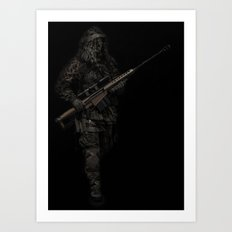 Soldier from the jungle Art Print