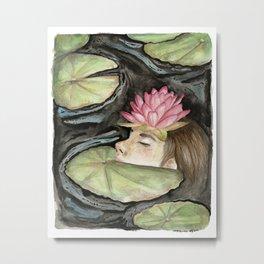 Heavy Crown watercolor Metal Print