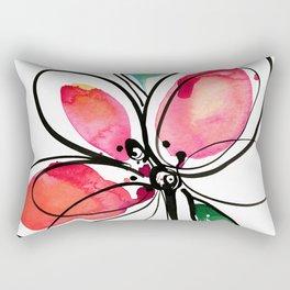 Ecstasy Bloom No. 3 by Kathy Morton Stanion Rectangular Pillow