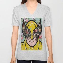 Floral (Wolverine)James Logan Howlett Unisex V-Neck