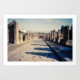 Faded Memories: The Streets of Pompeii Art Print