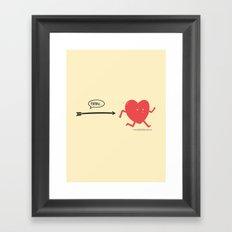 Follow the Heart Framed Art Print