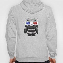 Owl - 3D Glasses Hoody