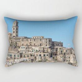 Sassi di Matera ancient city Rectangular Pillow