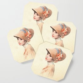 Audrey Hepburn - Eliza Doolittle - Watercolor Coaster