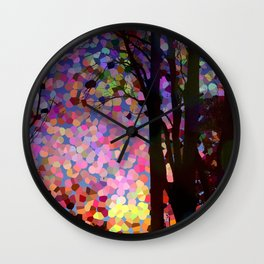 Jellybean Skies Wall Clock