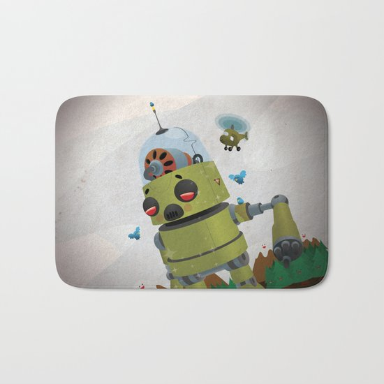 Monster robot toy Bath Mat