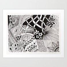 Black and White  -Pen & Ink Art Print