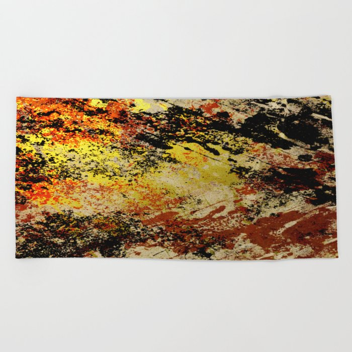 Burnt Out Beach Towel
