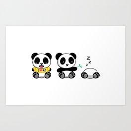 Three Little Pandas Art Print