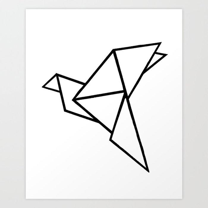 Origami Bird Art Print By Bridgetdavidson Society6