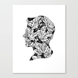 Leaf Cameo Canvas Print