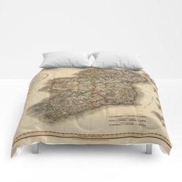 Map of Ireland 1799 Comforters