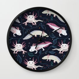 Axolotls/Mexican walking fish Wall Clock