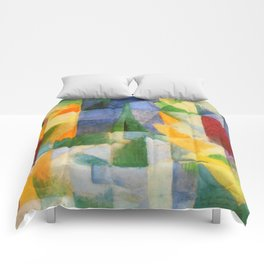 "Robert Delaunay ""The Window"" Comforters"