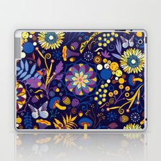 Ripe autumn – purple and yellow Laptop & iPad Skin