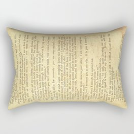 Jane Eyre, Mr. Rochester First Marriage Proposal by Charlotte Bronte Rectangular Pillow