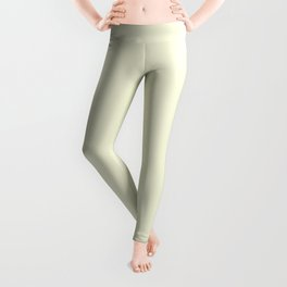Solid Light Beige Color Leggings