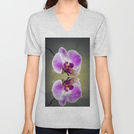 Orchid Reflections Unisex V-Neck