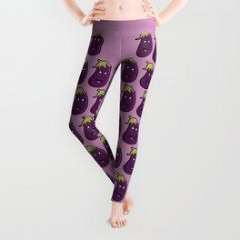 Kawaii Eggplant Leggings