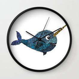 Nelly the Narwhal Wall Clock