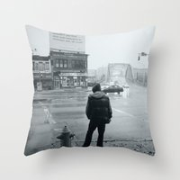 baltimore Throw Pillows featuring Baltimore by Nick Coleman