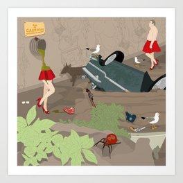 Pollution Art Print