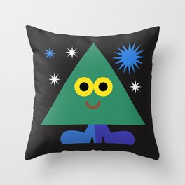 Happy Triangle Throw Pillow