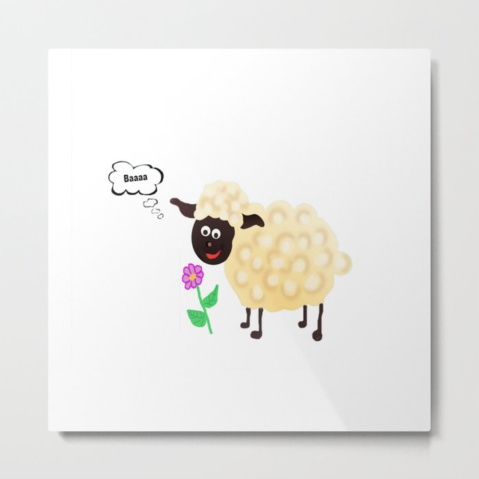 Little Sheep Metal Print