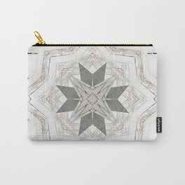 Country Cottage Distressed Wood Mandala Design Carry-All Pouch