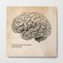 The Brain Is Wider Than The Sky Metal Print