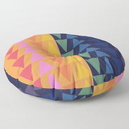 Day and Night Rainbow Triangles Floor Pillow