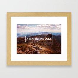 A Wandering Lost Framed Art Print