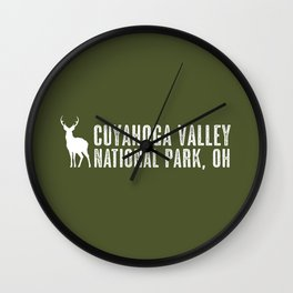 Deer: Cuyahoga Valley, Ohio Wall Clock